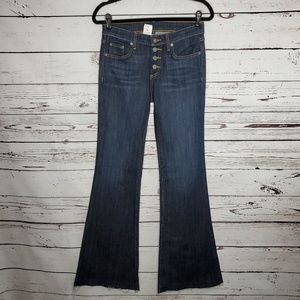 NWT LF Carmar Mid Rise Button Fly Flare Jeans